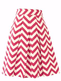 Never miss a chance to be charming while wearing this darling skirt adorned in a graphic chevron striped print. When you head out the door in the Chevron skirt, all eyes will be on you! The flattering