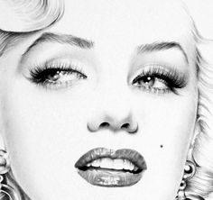 A minimalist portrait of Marilyn Monroe. Fine Art Print after an original drawing by Ileana Hunter.  Please select paper type and size when purchasing. The options are:  1. standard 170 gsm matte paper;  2. 225 gsm Professional Archival Grade 100% Cotton Paper - Preferred by Museums and Galleries. Age Resistant.  SIZES:  1. 297 x 210 mm or 11 3/4 x 8 1/4 inch (A4) or  2. 29.7 x 42.0 cm, 11.69 x 16.53 inches (A3)   All options are individually signed by the artist.
