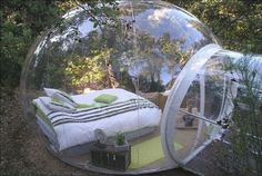 Oh, the possibilities and so much fun! You know I want one! air blown clear bubble named inflatable lawn tent for sight-seeing,camping and trade show