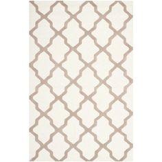 Safavieh Handmade Moroccan Cambridge Ivory Wool Rug (6' x 9') | Overstock.com Shopping - The Best Deals on 5x8 - 6x9 Rugs