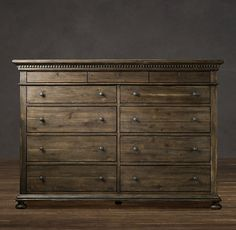 Gorgeous bedroom furniture from Restoration Hardware!  St. James 11-Drawer Dresser Antiqued Coffee