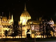 Budapest. Parliament at night
