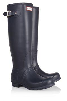 Details about Hunter ORIGINAL Womens Ladies Wellington Boots Navy ...