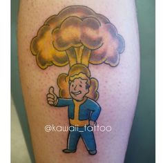 Fallout tattoo done by me! email kawaiitattoo@gmail.com for consult and appointment