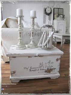 White shabby chic #shabbychicfurnitureideas #shabbychicfurniturefrench