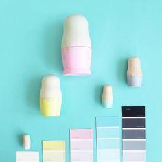 Styling Pastel Nesting Dolls - Instagram @ Sketchinc