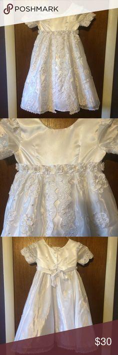 NWT Beautiful White dress NWT girls christening gown or party dress. #nwt  #christening Dresses Formal