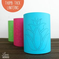 Lines Across: Thumb Tack Paper Lanterns