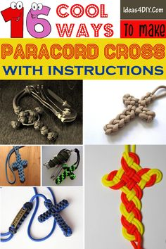Cool Ways To Make Paracord Cross #ParacordCross #ParacordCrossPatterns #DIYParacordCross #ParacordProjects