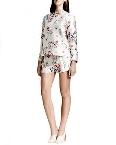 Wildflower Jacquard Top & Wildflower Jacquard Shorts by Stella McCartney at Bergdorf Goodman.