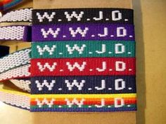 What would Jesus Do? bracelets...it was a very good daily reminder on what he would do. In fact, I still have mine I think somewhere! :)