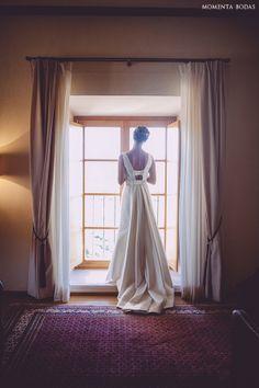 ins y su vestido de novia de corte clsico de rosa clar foto momenta
