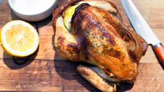 ... Roast Chicken with Garlic-Herb Compound Butter on Panna by Chef Anita