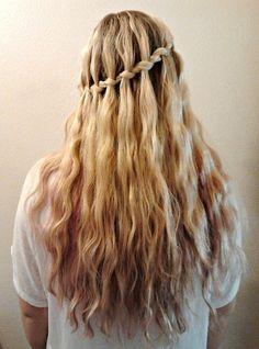 Stylish Waterfall Braid Hairstyle