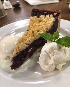 "#Jakarta Cherry Crumble with Vanilla Ice Cream at @NolitaJakarta. What @bamby18 said about this? ""my fav Cherry Crumble has the right sweetness crunchy pie dough and fresh as well."" #cherrycrumble #vanillaicecream"