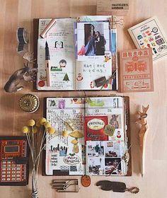 Memory journal, photo journal, scrapbook journal, travel scrapbook, diy s. Art Journal Pages, Album Journal, Photo Journal, Scrapbook Journal, Travel Scrapbook, Diy Scrapbook, Art Journals, Memory Journal, Travel Journals