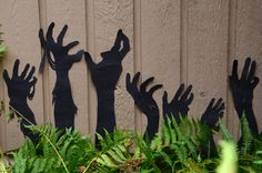 DIY Halloween Decor: Zombies In The Garden >> http://www.hgtvgardens.com/halloween/make-frightening-garden-silhouettes-for-halloween?soc=pinterest&s=2