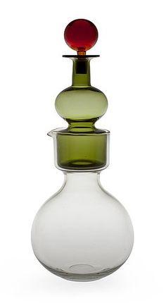 .Great art glass decanter