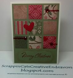 Welcome to Scrappin' Cat's Creative Endeavors: Scrap grid Christmas card