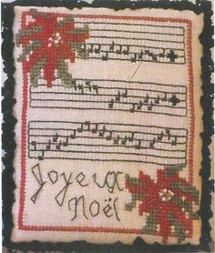 Dames of the Needle - Joyeux Noel Ornament [DOTN131510] - $6.50 : Laurels Stitchery, The best little stitchery shop on the internet!