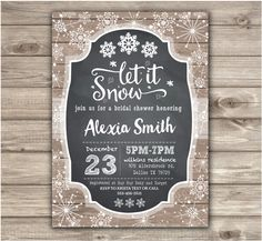 Holiday winter bridal shower invitation flannel fur and fizz winter bridal shower invitations rustic simple bridal wedding shower couples open house shower wedding church invitations snowflakes nv713 filmwisefo