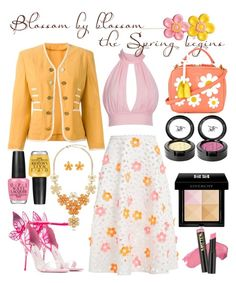 """Sweet daisy"" by bettysilver ❤ liked on Polyvore featuring Paskal, Moschino, Mark Cross, Beauty Is Life, Givenchy, BERRICLE, OPI, yellow, Pink and Daisy"