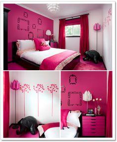 hot pink room.