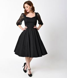 Pure class from sundown to sunup! Hit the town in something haute with this gorgeous Adrienne Dress, in a sleek midnight black. Crafted in a lovely cotton stretch, the subtle sweetheart bodice is princess seamed through the natural waist, where an A-line