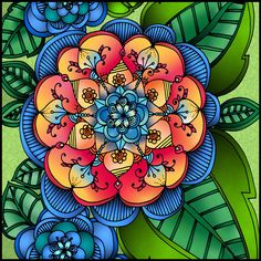 Beautiful Floral Coloring Page Done By Enzo Martinelli Have You Tried The Pigment App Yet Its Best Adult For IPhone IPad
