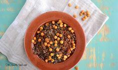 Crunchy Chickpea Red Quinoa {Gluten-Free, Dairy-Free, Vegan} #glutenfree