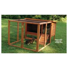 Design and Build Outdoor Rabbit Hutches Using Indoor Rabbit Cages