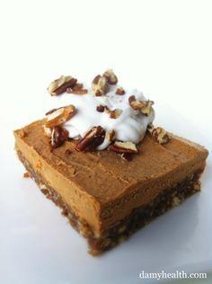 Vegan Pumpkin Pie Cheesecake   [vegan, no-bake, gluten free, loaded with fiber]