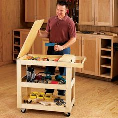 Get'r-Done Shop Cart Woodworking Plan from WOOD Magazine
