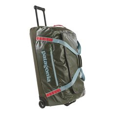 Highly weather-resistant, the Patagonia Black Hole Wheeled Duffel 120L will protect your gear and hold everything you need for an extended trip.