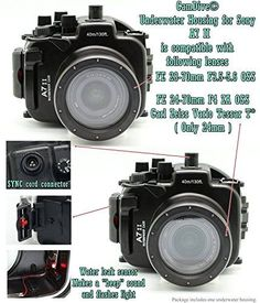 For Sony A7 II CamDive 130FT/40M Underwater Camera Diving