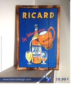 Il est 7 heures et quart... L'heure du #Ricard ! #PlaqueBoisDeco  - 19,99€ - seulement sur www.beknitdesign.com
