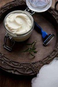 How to Make Rosemary Mint Shaving Cream for Men Recipe--think I will modify to make oatmeal honey mint instead!
