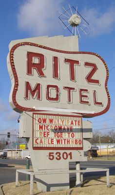 Perhaps the glitz has gone out of the Ritz Motel in Little Rock, Arkansas.  Don't tell my mom, but I am pretty sure this is next to the liquor store on Geyer Springs that i bought alcohol from when i was in high school.