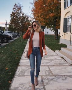 Just arrived in beautiful Vermont 🍁🤗 Wearing this casual look from Nordstrom to dinner tonight. I'm obsessed with Nordstrom because they… Stylish Outfits, Fall Outfits, Cute Outfits, Fashion Outfits, Casual Dinner Outfits, Woman Outfits, Night Outfits, Style Fashion, Womens Clothing Stores
