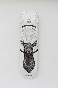 SOVRN skate deck by the tattoo artist Peter Carrington Surfboard Skateboard, Skateboard Design, Skateboard Decks, Longboard Decks, Skate Shape, Skateboard Companies, Snowboard Design, Posca Art, Skate Art