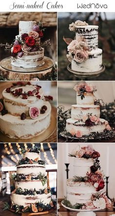Rustic Wedding Cakes #rusticcakes