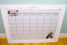 Extra large dry erase magnetic calendar. Industrial by swankydays, $198.00