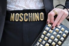 Moschino Accessories *35mm Moschino Low Waist Leather Belt http://trendylog.com/product/35mm-moschino-low/527125fc7b1f46d020000000