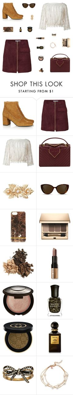 """Thanksgiving Outfit"" by belenloperfido ❤ liked on Polyvore featuring Yves Saint Laurent, RED Valentino, Chanel, Cara, Linda Farrow, Richmond & Finch, Clarins, Bobbi Brown Cosmetics, Becca and Deborah Lippmann"