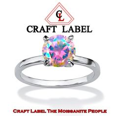 """1.50 Ct Round Brilliant Cut Mystic Topaz 14K Gold Solitaire Engagement Ring """"Mother\'s Day Gift"""". Starting at $1"""