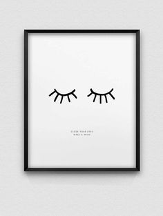 inspirational print // close your eyes make a wish print // black and white print // nordic style home decor // font print // dream print - DIY and crafts - Deco Home Decoration Inspiration, Room Inspiration, Decor Ideas, Decorating Ideas, My New Room, My Room, Diy Home Decor, Room Decor, Wall Decor
