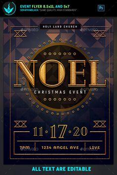 Noel Christmas Gala Flyer Template #roaringtwenties