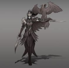 Concepts of Quinn and Valor: Falconer 2