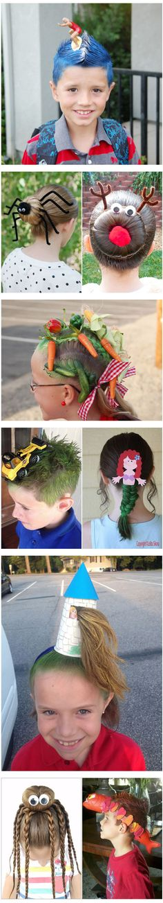 When It Came To 'Crazy Hair Day' At School, These Parents Aced It With Their Brilliantly Imaginative Designs.