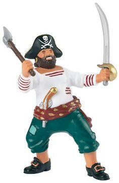 Figura de pirata corsario con hacha de Papo en El Pais de los Juguetes